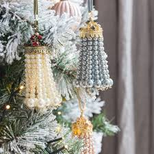 buy joanna buchanan peal tassel christmas tree decoration amara