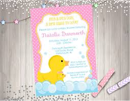 rubber ducky baby shower invitation rubber duckie baby