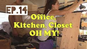 home office closet organizer tiny home ep 14 closet organization diy kitchen small office