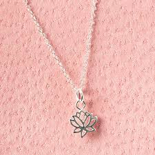 sterling silver flower necklace images Lotus flower sterling silver necklace by grace valour jpg