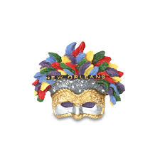 mardi mask 3d mardi gras feather mask magnet