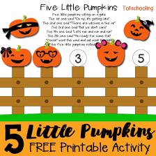 five little pumpkins printable activity totschooling toddler
