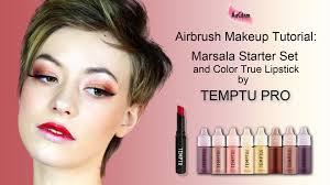 temptu marsala set and color true lipstick airbrush makeup