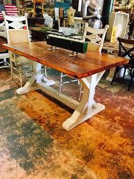 trestle base dining table heart pine trestle base dining table 36x60x30 sarasota
