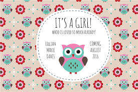owls baby shower pink owl baby shower placemats icustomlabel