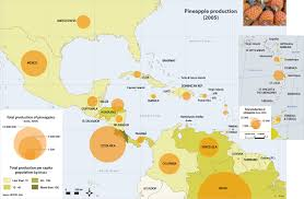 A Map Of The Caribbean by Caribbean Atlas