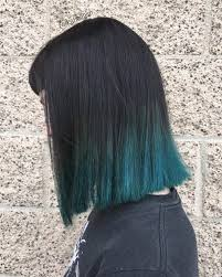 long bob with dipped ends hair 20 dip dye hair ideas delight for all blue dip dye black bob