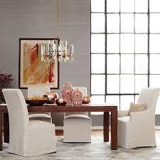 belvedere slipcovered dining armchair quick ship williams sonoma