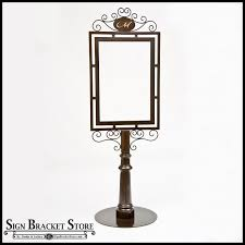 outdoor metal sign holders decorative wrought iron sign holder