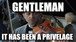 Violin Meme - gentleman titanic violin meme on memegen