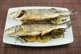 Fish Mediterranean Style Oven Roasted Branzino