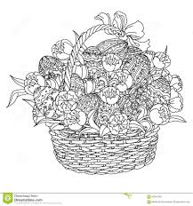 vector coloring book for easter egg stock vector image