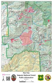 Wildfire Map Northwest 2017 by Pier Fire Near Springville Grows To 5 289 Acres Evacuations In