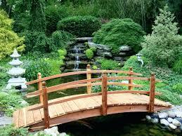 wooden garden bridge australia home outdoor decoration