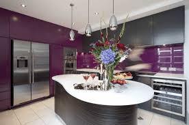 cuisine en violet cuisine aubergine et grise ilot central violet choosewell co