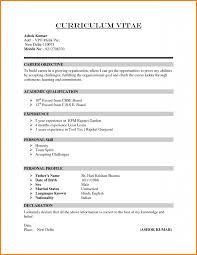 simple resume format exles cv template scholarship application simple resume format exle