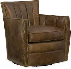 Leather Swivel Club Chairs Hooker Furniture Living Room Carson Swivel Club Chair Cc492 Sw 085