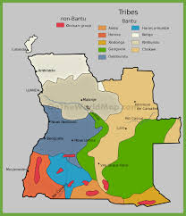 Ethnic Map Of Los Angeles by Map Of Ethnic Groups In Angola