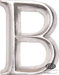 posh graffiti silver wooden letters 12cm b old english 12cm