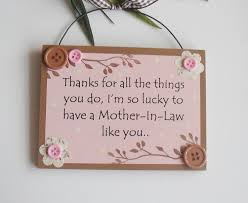 i u0027m so lucky to have a mother in law like you wooden keepsake