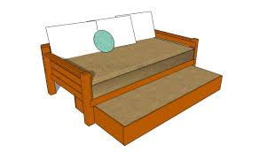 Bed Frame With Storage Plans How To Build A Trundle Bed Howtospecialist How To Build Step