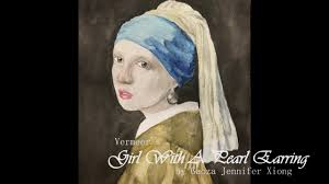pearl earring painting girl with a pearl earring watercolor recreation speed paint