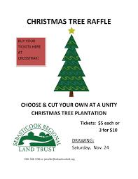 christmas tree raffle sebasticook regional land trust