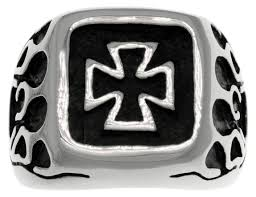 jewelry trends stainless steel band ring with celtic iron cross
