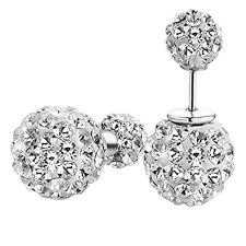ear studs shining women s rhinestone dual use