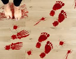 amazonsmile 42pcs bloody footprints floor clings halloween