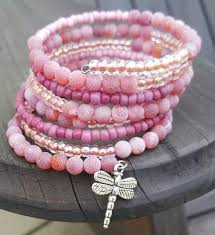 pink glass bead bracelet images 748 best jewelry making images memory wire jpg
