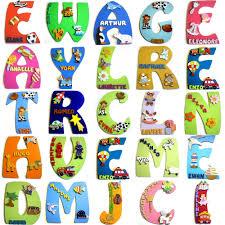 lettres pour chambre bébé plaque de porte chambre bébé décoration personnalisée pour chambre