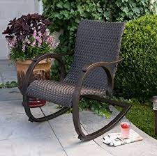 sleek hand woven outdoor all weather wicker rocker rocking chair