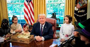 donald barnhouse donald trump met reporters u0027 kids and it was more trick than treat