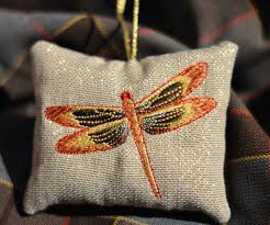 outlander dragonfly in amber christmas tree ornament dragonfly