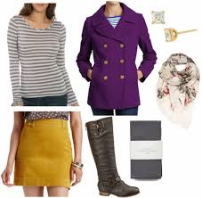 color combo to try purple yellow college fashion