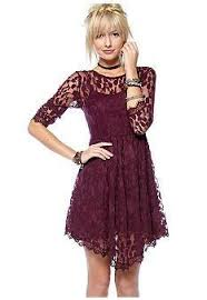 consignment calgary free people floral mesh lace dress sz 4