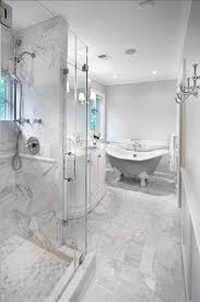 Bathroom Classic Bathroom Design Tiling Is Honed Carrara Marble - Carrara marble bathroom designs