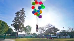flying with giant helium balloons insane youtube