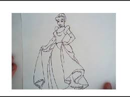 draw cinderella drawing tutorial step step
