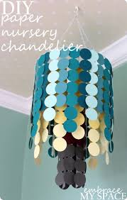 Paper Lantern Chandelier Paper Chandelier From Cupcake Liners