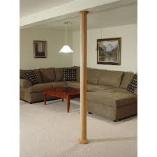 basement wrap pole wrap 96 in x 12 in mdf basement column cover 87128 the home