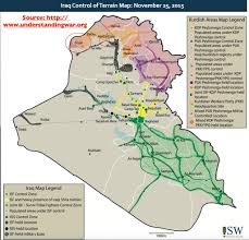 Map Iraq Iraq Control Of Terrain Map November 25 2015 Vivid Maps