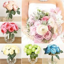 details about 1 head fake artificial peony silk flower party