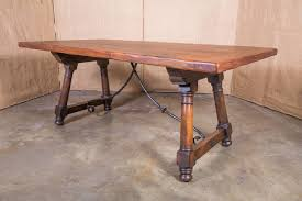 antique spanish trestle table with iron stretcher at 1stdibs