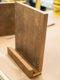 how to make a modern tablet or cookbook stand hgtv