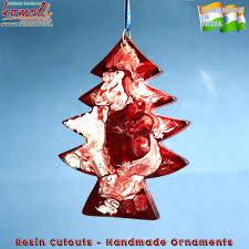 smoky tree shaped acrylic new decorations flat ornaments