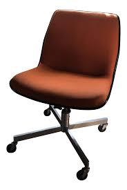 vintage mid century orange mod office chair chairish