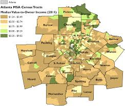 Atlanta Ga Map Segregation U0027s New Geography The Atlanta Metro Region Race And