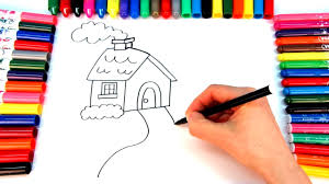 coloring house for kids how to draw a house coloring videos